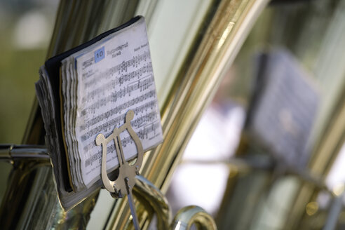 Germany, Bavaria, Munich, Brass band, close-up - TCF00857