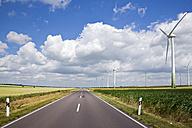 Germany, Saxony-Anhalt, Wind turbines in field - FOF00764