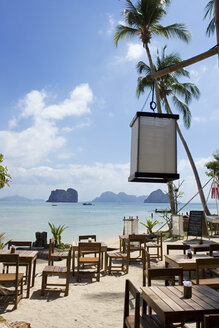 Thailand, Ko Hai Island, Beach restaurant - GAF00042