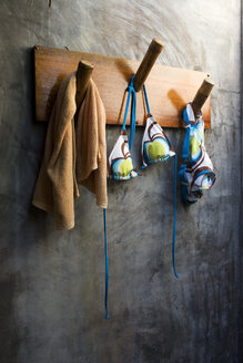 Bikini on coat rack, close up - GA00068