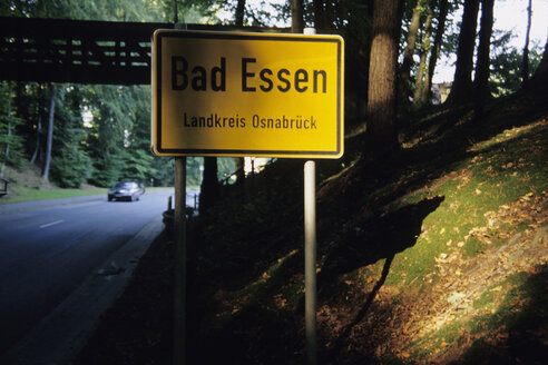 Germany, Bad Essen, Place-name sign - MS02262