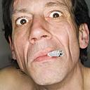 Man smoking, close-up, portrait - MUF00576