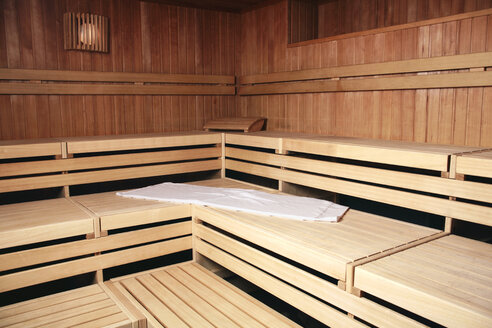 Benches of wooden sauna - RDF00922