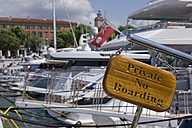 France, Cote d'Azur, Nice, Marina, prohibition sign - WD00130