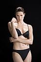 Young woman wearing bikini, portrait - MAE01028
