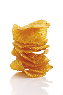 Stack of Potato chili chips, close-up - 09010CS-U