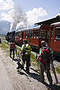Austria, Tyrol, People and steam engine - FF00910