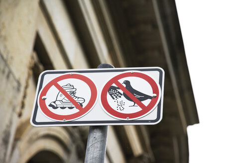 Prohibition signs, elevated view - 09318CS-U