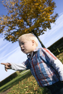 Little boy (2-3 years) gesturing, portrait - SMO00255