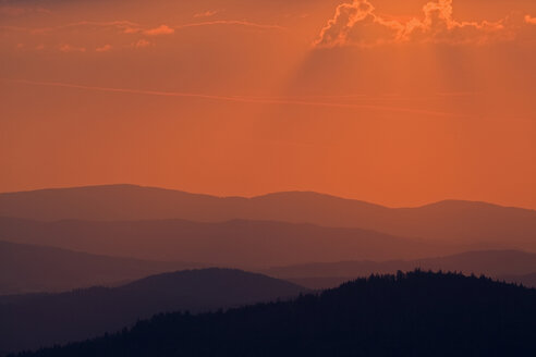 Germany, Bavarian Forest, Lusen at Sunset - FOF01186
