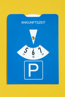 Parking disc, elevated view - MUF00684
