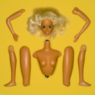 Plastic doll, elevated view - MU00642