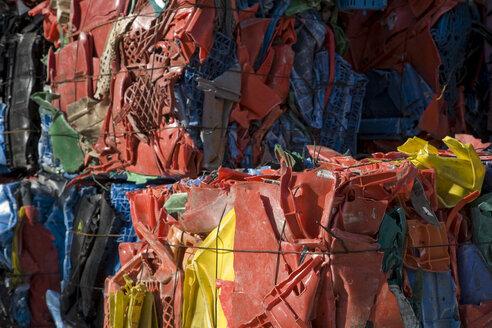 Landfill site, Stacks of waste plastic - WDF00395
