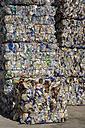 Landfill site, Stacks of plastic waste - WDF00383