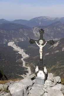 Austria, Karwendel, Vorderkopf, Summit cross - MRF01122