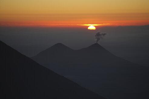 Guatemala, Acatenango volcano with sunrise - RM00312