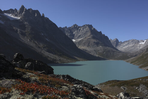 South Greenland, Tupaassat, Lake in Mountain scenery - RM00287