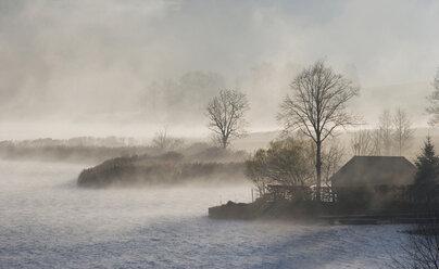 Austria, Salzkammergut, Lake Irrsee, waft of mist - WW00808