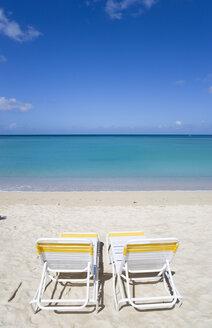 Grenada, Saint George´s, Morne Rouge Beach, Two Deckchairs - PSF00022