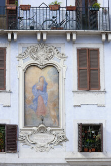 Italy, Rome, House wall, Fresco painting - PSF00086