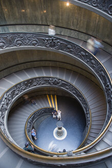 Italy, Rome, Vatican City, Museum, Spiral Staircase, elevated view - PS00150