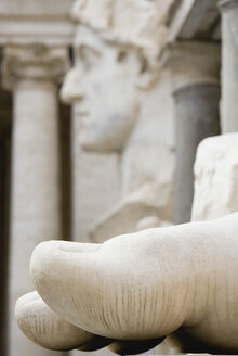 Italy, Rome, Vatican City, Palazzo dei Conservatori, Bust of Constantine, close up - PS00141