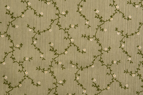 Floral fabric wallpaper, full frame - AWDF00360