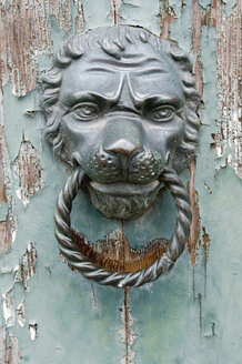 Italy, Venice, Lion head door knocker, close up - AWDF00348