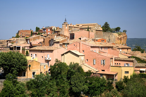 France, Provence, Roussillon, View over the village - PSF00210
