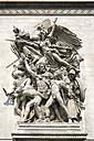 France, Paris, Arc de Triomphe, Relief, close up - PSF00165