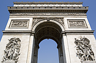 France, Paris, Arc de Triomphe, low angle view - PSF00159