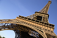 France, Paris, Eiffel Tower, low angle view - PSF00156