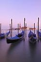 Italy, Venice, San Giorgio Maggiore, Gondolas - RUEF00241