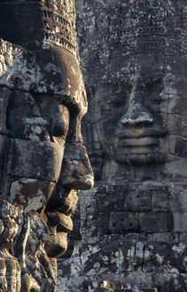 Cambodia, Siem Reap, Bayon Temple, Carved face - PSF00306