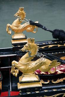 Italy, Venice, Gondola, Sea horse decoration - PSF00345