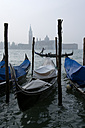 Italy, Venice, Gondola, San Giorgio Maggiore in background - PSF00342