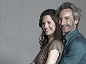 Couple, smiling, side view, portrait - WEST12318