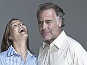 Couple, woman laughing, portrait - WEST12300