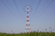 Germany, Lower Saxony, Power pylon - TLF00314