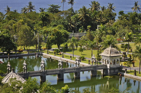 Asia, Indonesia, Bali, Puri Taman Ujung, Water palace, elevated view - MBF00940