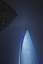 China, Shanghai, Pudong, Jin Mao Tower and Shanghai World Financial Center, low angle view - GW01022