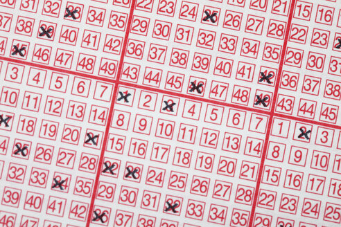 Lottery ticket, close-up, full frame - MAEF01847