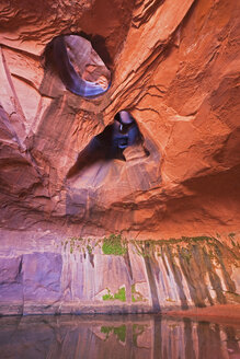 USA, Utah, Grand Staircase-Escalante National Monument, Neon Canyon, Golden Cathedral - FOF01670