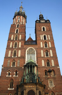 Poland, Cracow, St Marys church, low angle view - PSF00404
