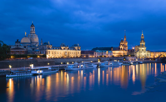 Germany, Saxony, Dresden skyline at night - PSF00374