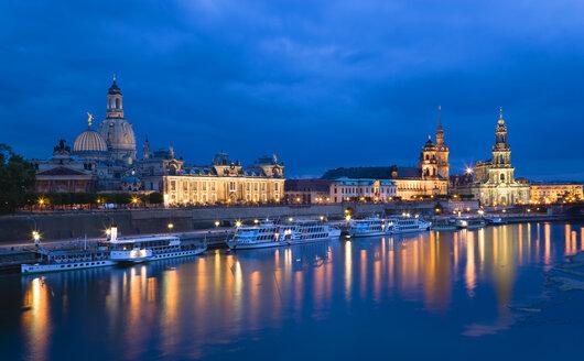 Germany, Saxony, Dresden skyline at night - PSF00374