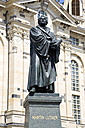 Germany, Saxony, Dresden, Church of our Lady and statue of Martin Luther - PSF00365