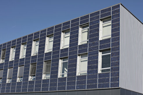 Germany, Bavaria, Ingolstadt, Solar panel facade - KSF00077