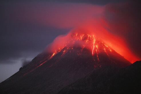 Montserrat, Caribbean, Soufriere hills volcano erupting - RMF00439