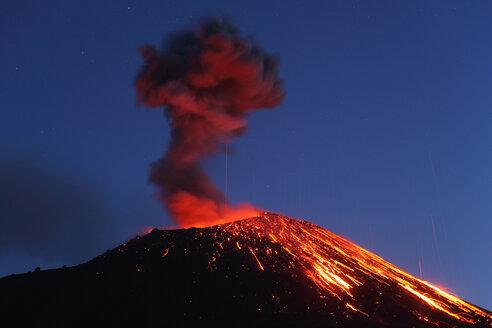Indonesia, Sumatra, Krakatoa volcano erupting - RMF00412
